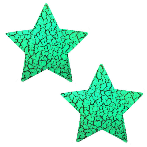 Glow Dark Synaptic Storm Holographic Starry Nights Pasties, Star Pasties - NevaNude