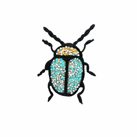 Beetle Iron on Patch Sticker, FabStix