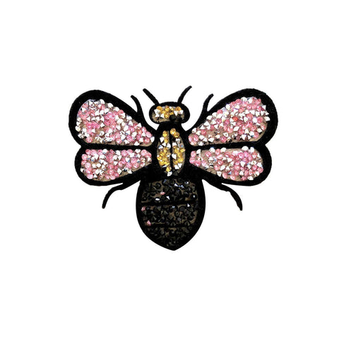 Crystal bug iron on patch sticker, FabStix