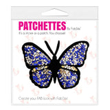 Iron On Crystal Butterfly Patch, FabStix