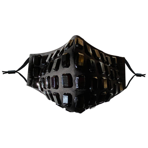 Darth Gleamous Black Jewelled Face Masks With Filter Pocket