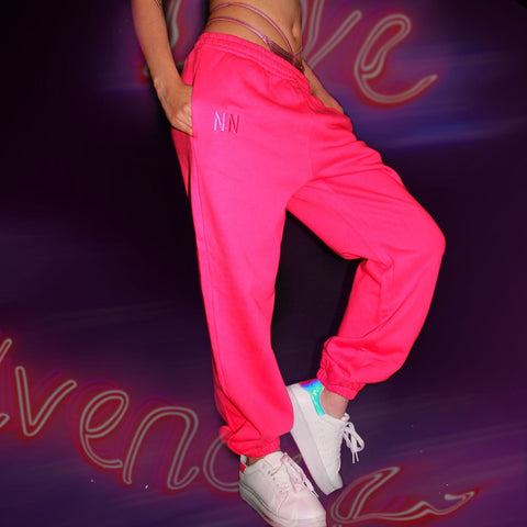 Pink Neon Jogger Naughties Sweat Pants
