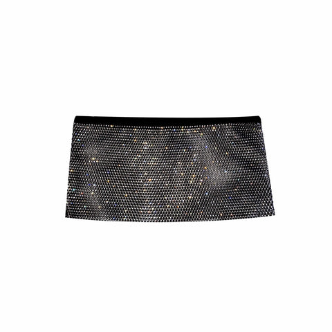 Paparazzi Black Sparkle Mesh Jewel Top