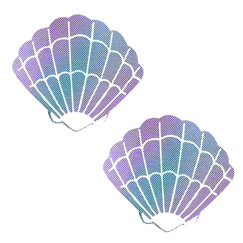 Purple Mermaid Shell Nipple Pasties, Neva Nude