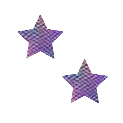 Iridescent star nipple rave pasties, Neva Nude