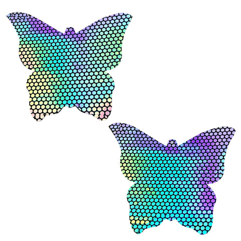 Liquid Party Holographic Butterfly Kisses Pasties, Butterfly Pasties - NevaNude