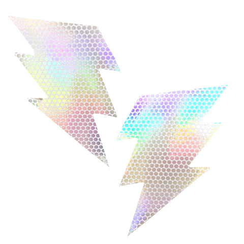 Liquid Party Pure Holographic Storm Surge Bolt Pasties