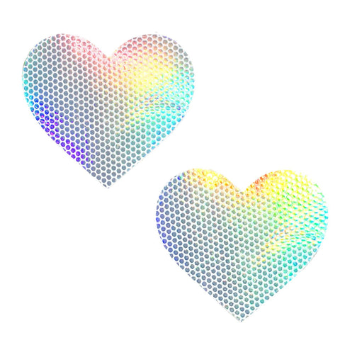 White holographic nipple pasties, Neva Nude