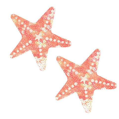 Blacklight starfish nipple pasties, Neva Nude