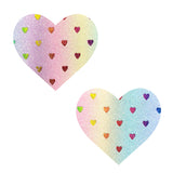 Multicolor Holographic Rainbow Sheep Pastel Glitter I Heart U Nipztix