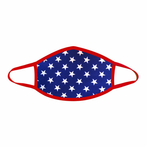 Murica USA Blue Star Face Mask