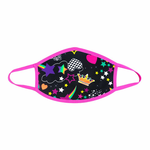 Girl Crush Neon UV Pink Face Mask