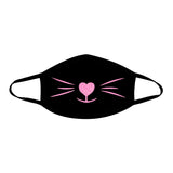 MEOW-ZA Neon UV Pink Face Mask