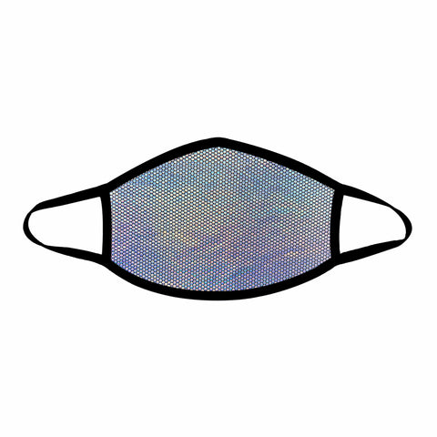 Liquid Party Silver Holographic Face Mask