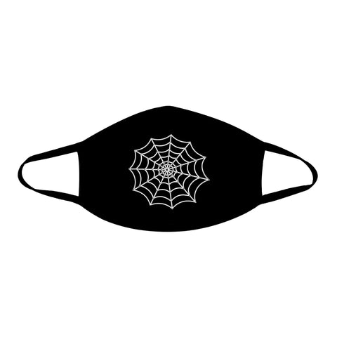 Spider Web Halloween Black Face Mask