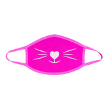 Pretty Kitty White Glitter Neon UV Pink Face Mask