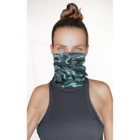 Extraction Green Black Camo Sexy Necksie
