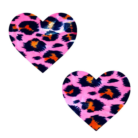 Pink cheetah heart nipple cover, Neva Nude