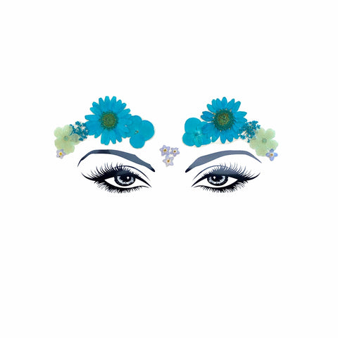 Spring Fling Blue Real Dried Pressed Flower FaceStix
