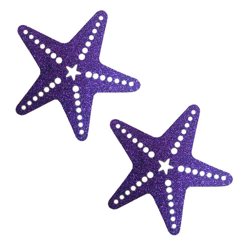 Purple Rain Glitter Starfish Pasties, Neva Nude