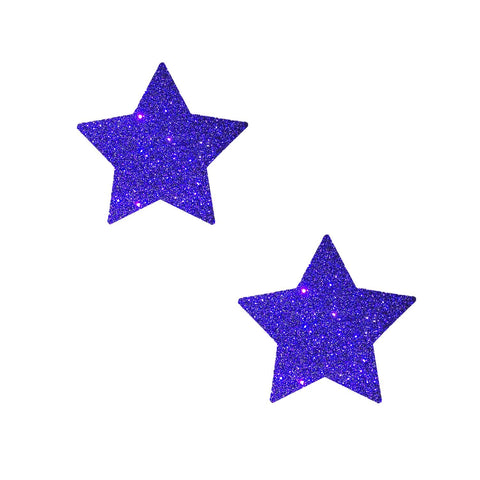 small glitter purple nipple pasties, Neva Nude
