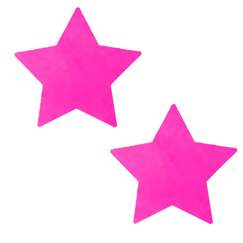 Neon Pink Blacklight Starburst Starry Nights Pasties