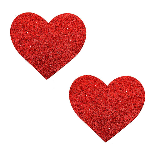 red heart glitter pasties, Neva Nude
