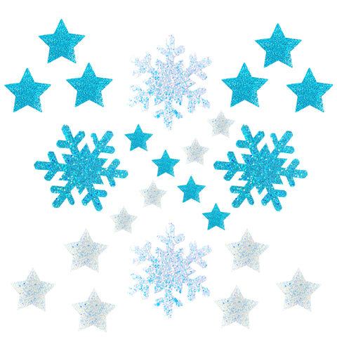 Snowflake Super Sparkle Holographic Glitter Starry Nights Sticker Top