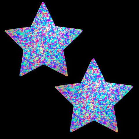Blacklight glitter nipple pasties, Neva Nude