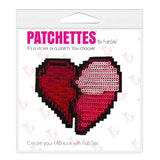 Sequin heart patch sticker, FabStix