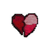Broken Heart Iron On Patch, FabStix