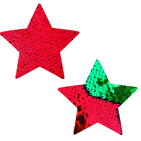 Christmas star nipple pasties, Neva Nude