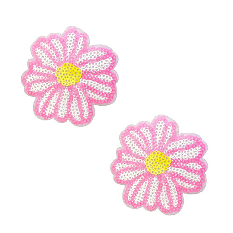 Sequin Daisy nipple pasties, Neva Nude