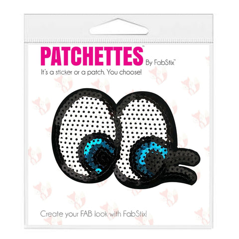 Sequin eye iron on patch sticker, FabStix