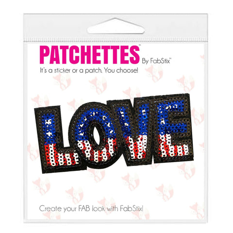 Love American patch sticker, FabStix