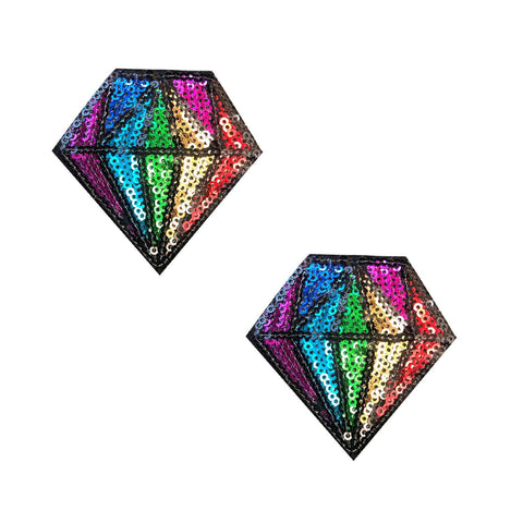 Sequin Diamond Nipple Pasties, Neva Nude