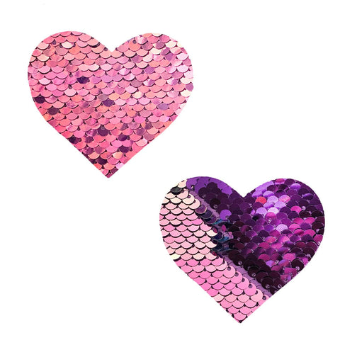 Pink sequin heart Nipple pasties, Neva Nude