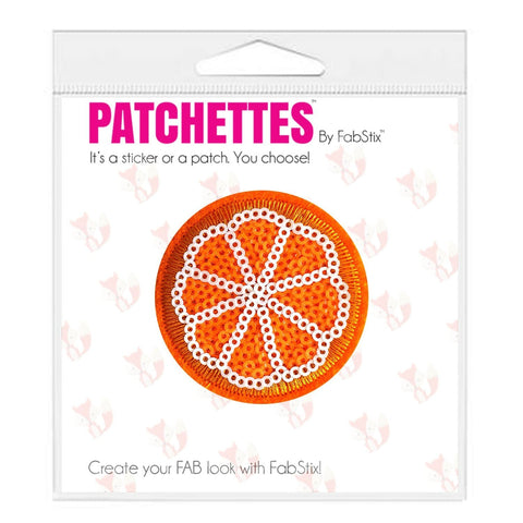 Orange iron on patch and sticker, FabStix