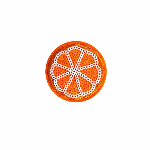 sequin orange iron on patch sticker, FabStix