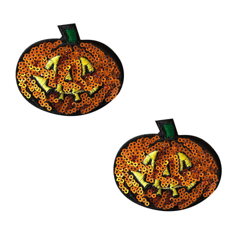 Sequin Pumpkin Nipple Pasties, Neva Nude