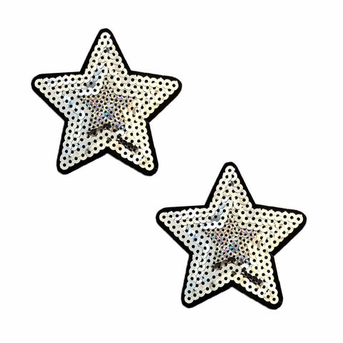 You're A Star Silver Sequin Nifty Nipztix 2 Wears