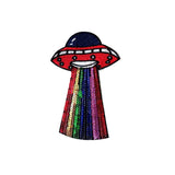 UFO Sequin Iron On Patch Sticker, FabStix