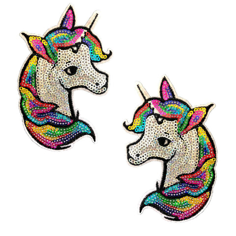 sequin unicorn nipple cover pasties, Neva Nude