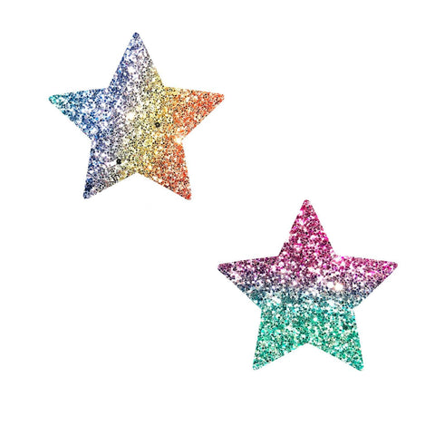 multicolor star body sticker, Neva Nude