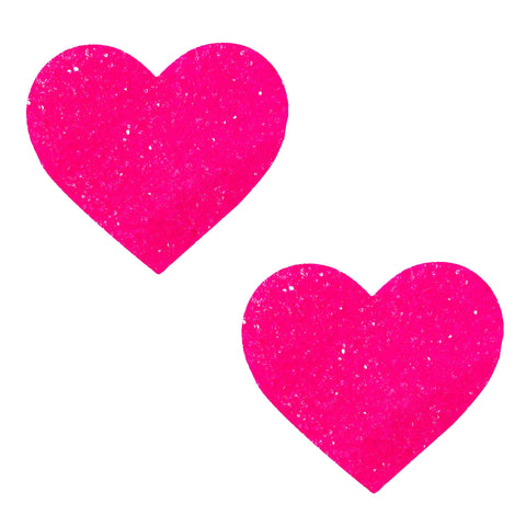 Super Sparkle Watermelly Pink Blacklight Glitter I Heart U Nipztix