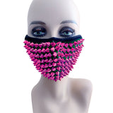 Envy Pink Stud Face Masks With Filter Pocket