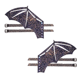 Reflective Glitter Bat Original Wingz Pair For Calf Or Boot