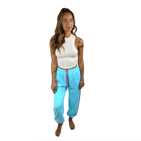 Blue Neon Jogger Naughties Sweat Pants