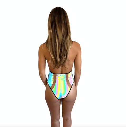 Rainbow Reflective Peepers Bodysuit One Piece