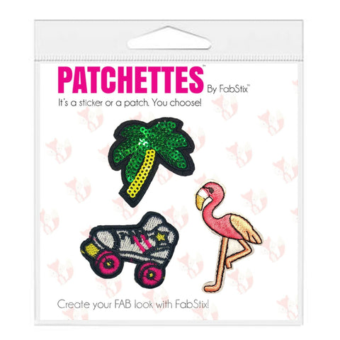 Palm Tree Iron On Patch Sticker- FabStix